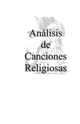 Análisis de Canciones Religiosas