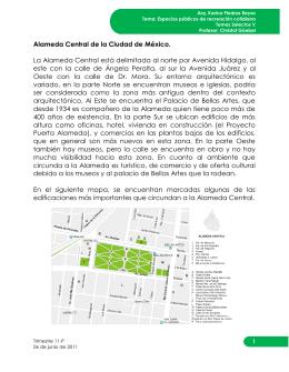 Alameda Central de la Ciudad de México. La