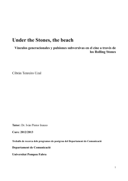 Under the Stones, the beach - Repositori Digital de la UPF