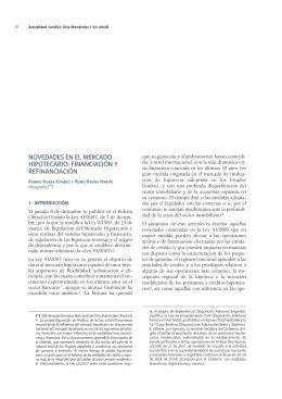 NOVEDADES EN EL MERCADO HIPOTECARIO