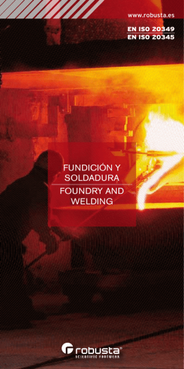 FUNDICIÓN Y SOLDADURA FOUNDRY AND WELDING