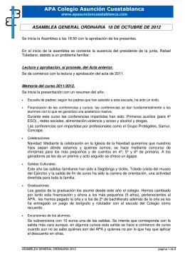 APA Colegio Asunción Cuestablanca