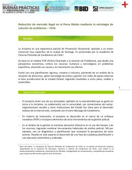 Reducción de mercado ilegal en el Persa Biobío mediante la