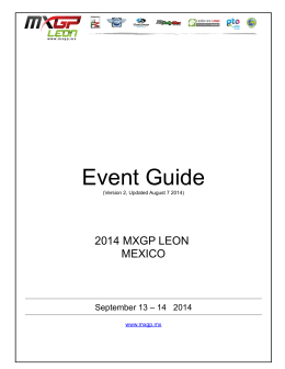 Event Guide 2014