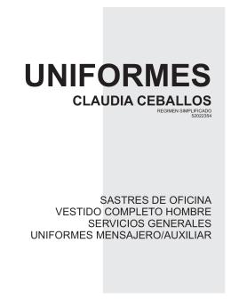 uniformes claudia ceballos