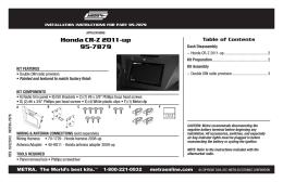 Honda CR-Z 2011-up 95-7879