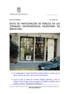 Jornadas Gastronómicas en Barcelona