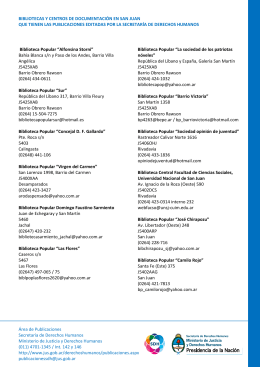 24. bibliotecas y centros de documentación en san