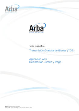 Transmisión Gratuita de Bienes (TGB) Aplicación web