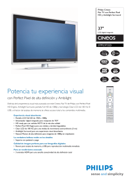 37PFL9732D/10 Philips Flat TV con Perfect Pixel HD y