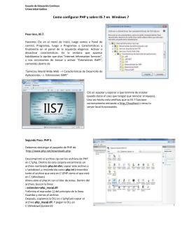 Como configurar PHP y sobre IIS 7 en Windows 7