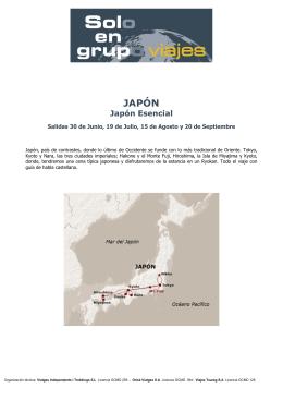 JAPÓN - viajes Solo en grupo