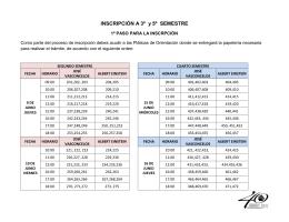 INSCRIPCIÓN A 3º y 5º SEMESTRE - CCH Vallejo