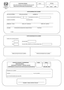 Descarga formato de solicitud - CCH Vallejo