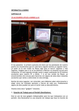 INFORMATICA A BORDO – Cap 35 – 25 accesorios utiles a bordo