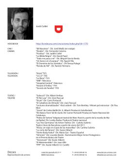 Jordi Collet - Decara representación de actores