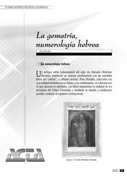 La gematría, numerología hebrea