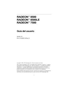 RADEON™ 8500 RADEON™ 8500LE RADEON™ 7500