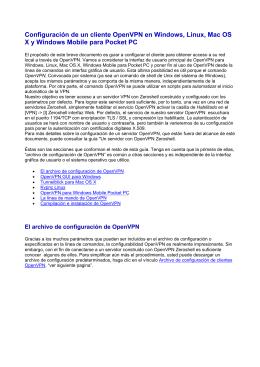 Configuración de un cliente OpenVPN en Windows