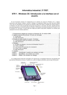 Informática Industrial. 3º ITIET. STR 1 . Windows CE: Introducción a