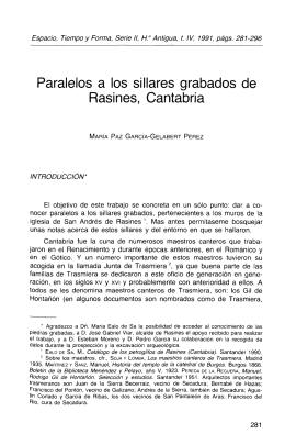 Paralelos a los sillares grabados de Rasines, Cantabria