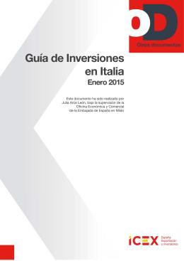 Guía de Inversiones en Italia 2015 - Otros Documentos