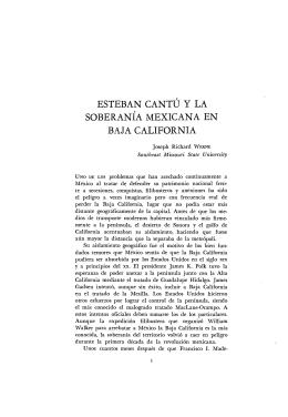 esteban cantú y la soberanía mexicana en baja california