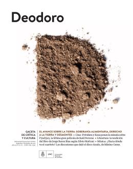 Deodoro, gaceta de crítica y cultura | Número 37