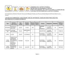 Consulta el listado de Albergues, Casas Hogar, Asilos, Estancias