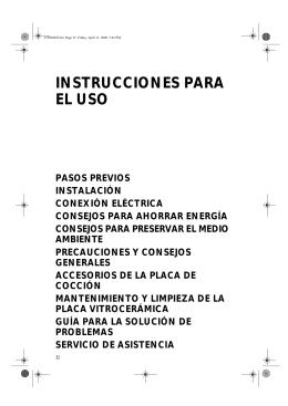 INSTRUCCIONES PARA EL USO
