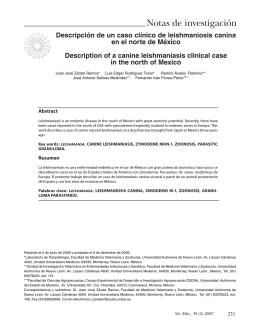 Descripción de un caso clínico de leishmaniosis canina en el norte