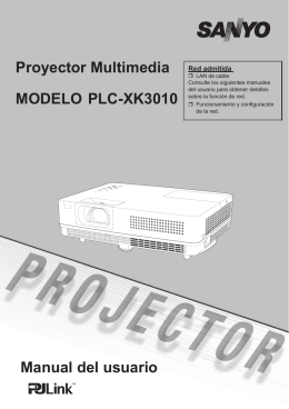 Manual del usuario Proyector Multimedia MODELO PLC