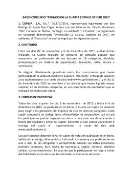 """BASES CONCURSO """"PROMOCION LA CUARTA"""