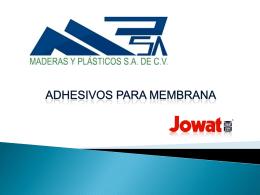 introduccion a los adhesivos base agua y resina urea formaldheido