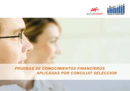 PRUEBAS DE CONOCIMIENTOS FINANCIEROS
