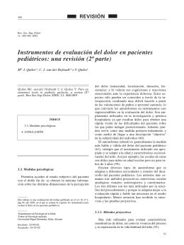 Instrumentos de evaluación del dolor en pacientes pediátricos: una