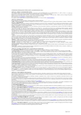 Página 1 de 4 CONDICIONES GENERALES DE