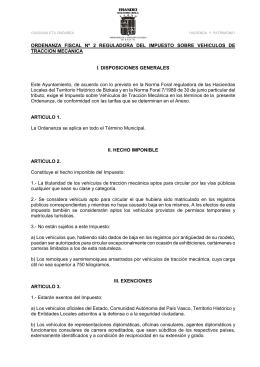 ORDENANZA FISCAL Nº 2 REGULADORA DEL IMPUESTO
