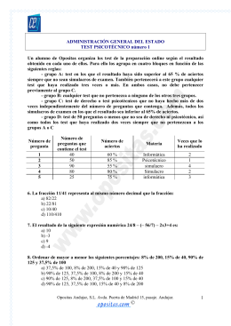 1 ADMINISTRACIÓN GENERAL DEL ESTADO TEST