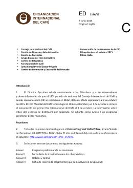 Convocación de las reuniones de la OIC