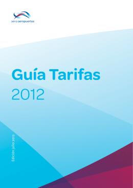 Guía de tarifas de AENA 2012.