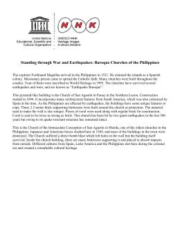 Las Iglesias Barrocas de Filipinas
