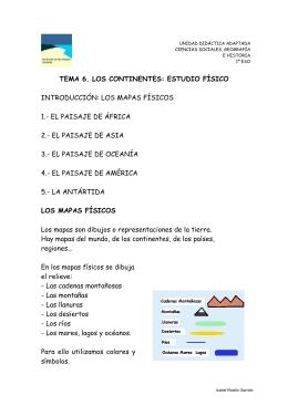 TEMA 6. LOS CONTINENTES: ESTUDIO FÍSICO
