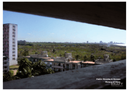 Public Housing in Havana History of Ideas