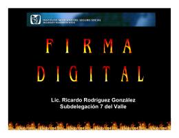 Lic. Ricardo Rodríguez González Subdelegación 7 del Valle