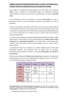 Instrucciones Preinscripción EOI curso 2015-2016