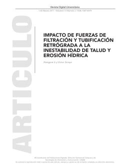 impacto de fuerzas de filtración y tubificación retrógrada a la