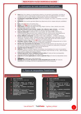 BAJAR Presupuesto Packs Madrid PDF