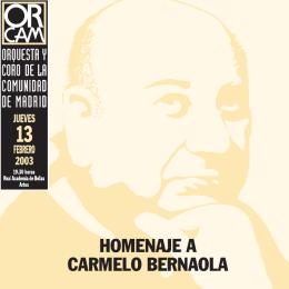 Programa Homenaje Bernaola - Orquesta y Coro de la Comunidad