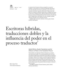 Escritoras híbridas, traducciones dobles y la influencia del poder en